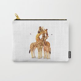 Cute giraffes loving family Carry-All Pouch