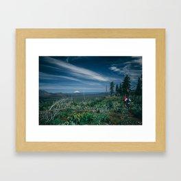 Mt Shasta view Framed Art Print