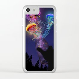 Electric Jellyfish World Released Clear iPhone Case