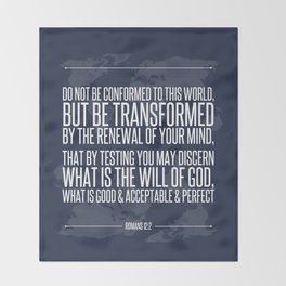 Romans 12:2 Throw Blanket