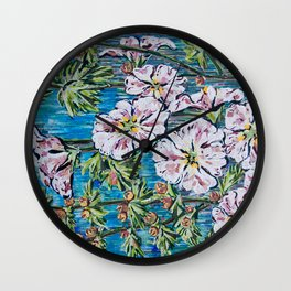 Flowers Painting Wall Clock