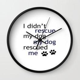 Rescue Dog Wall Clock