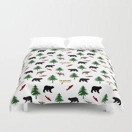 Moose Bear Duvet Cover