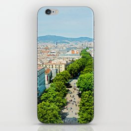 Barcelona from above iPhone Skin