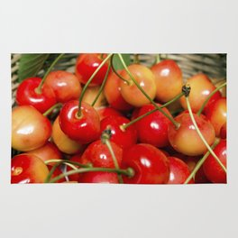Cherries in a Basket Close Up Rug