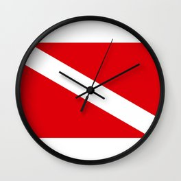Diving flag Wall Clock