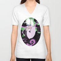 ursula V-neck T-shirts featuring Ursula by Karrashi