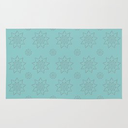 3D Texture Turquoise - Pointilism Pattern Rug