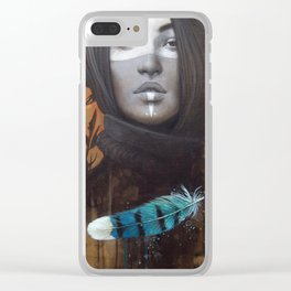 Marie-Bleue Clear iPhone Case