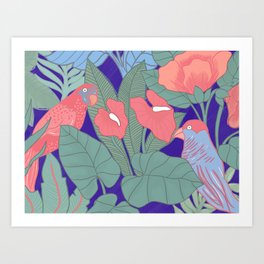 Jungle Parrot Art Print