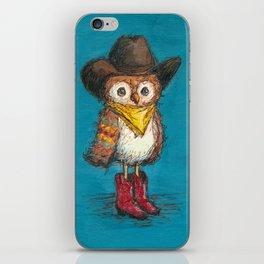 Cowboy Owl iPhone Skin
