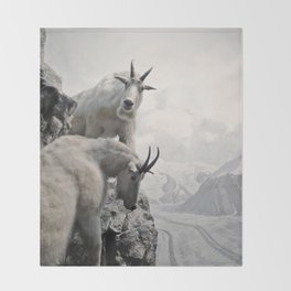 Hi, we are the mountain goats Throw Blanket