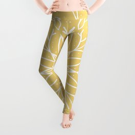 Single Snowflake - Yellow Leggings