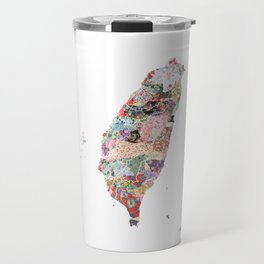Taiwan map portrait Travel Mug
