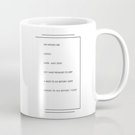 stopping by woods on a snowy evening / robert frost Coffee Mug