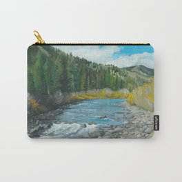 Mountain Stream Art Carry-All Pouch