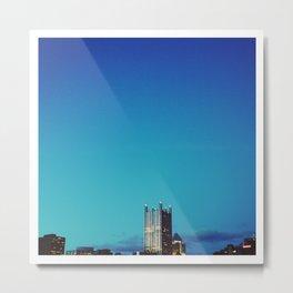 blue pittsburgh.  Metal Print
