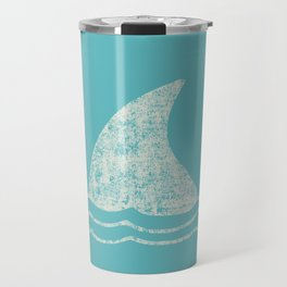 Beach Series Aqua - Shark Animal in the deep See Travel Mug