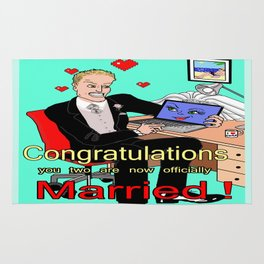 A man married to his computer Rug