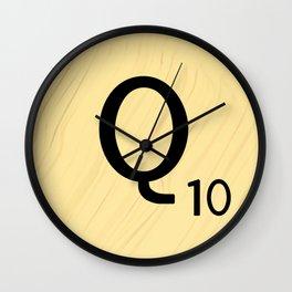Scrabble Q - Large Scrabble Tile Letter Wall Clock