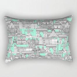 Paris toile aquamarine Rectangular Pillow