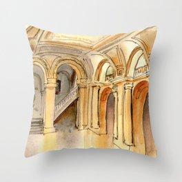 New York Public Library Throw Pillow