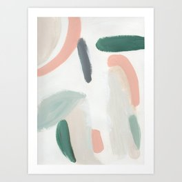Pastel Pumpkin Patch Art Print