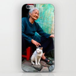Old Woman with Cat - VIETNAM - Asia iPhone Skin