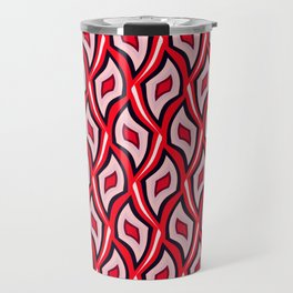 Distorted rhombuses in a red cover. Travel Mug