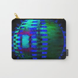 Green Layered Star in Blue Flames Carry-All Pouch