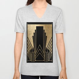 Art deco design Unisex V-Neck
