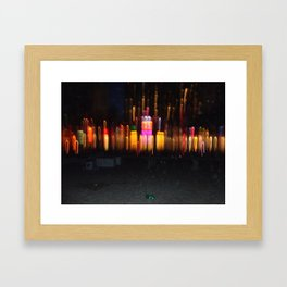 Florida Beach at Night Framed Art Print