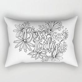 Boss Lady Adult Coloring Design Rectangular Pillow
