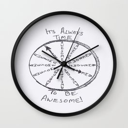 Awesome Time Wall Clock