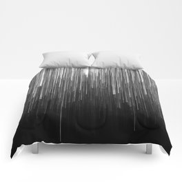 The Lights (Black and White) Comforters