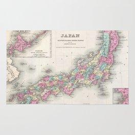 Vintage Map of Japan (1855) Rug