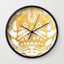 Gold Scary Fantasy Monster illustration Wall Clock