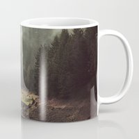 creepy Mugs featuring Foggy Forest Creek by Kevin Russ