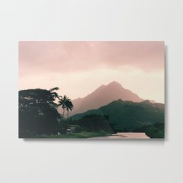 Hawaii Skylines Metal Print