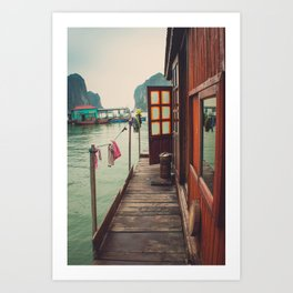 Fisherman's Backyard Art Print