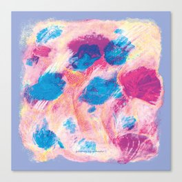 Colours of summer 1 -Abstract pattern Canvas Print