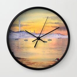 Impressions Of Provincetown Cape Cod USA Wall Clock