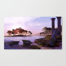 Old Ruined Temple. Canvas Print