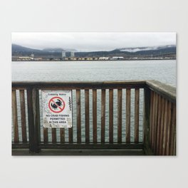 No Crabbing Sign Canvas Print