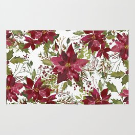 Poinsettia Flowers Rug