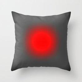 Red & Gray Focus Throw Pillow