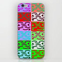 Patternless-squares-pattern iPhone Skin