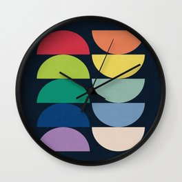 Abstract Flower Palettes Wall Clock