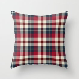 Holiday Plaid 25 Throw Pillow