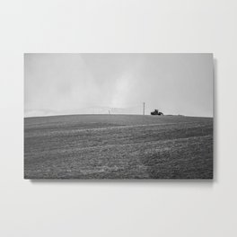 Winter farming Metal Print